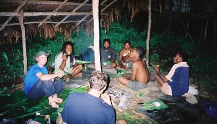 dinner in bush(SENT)